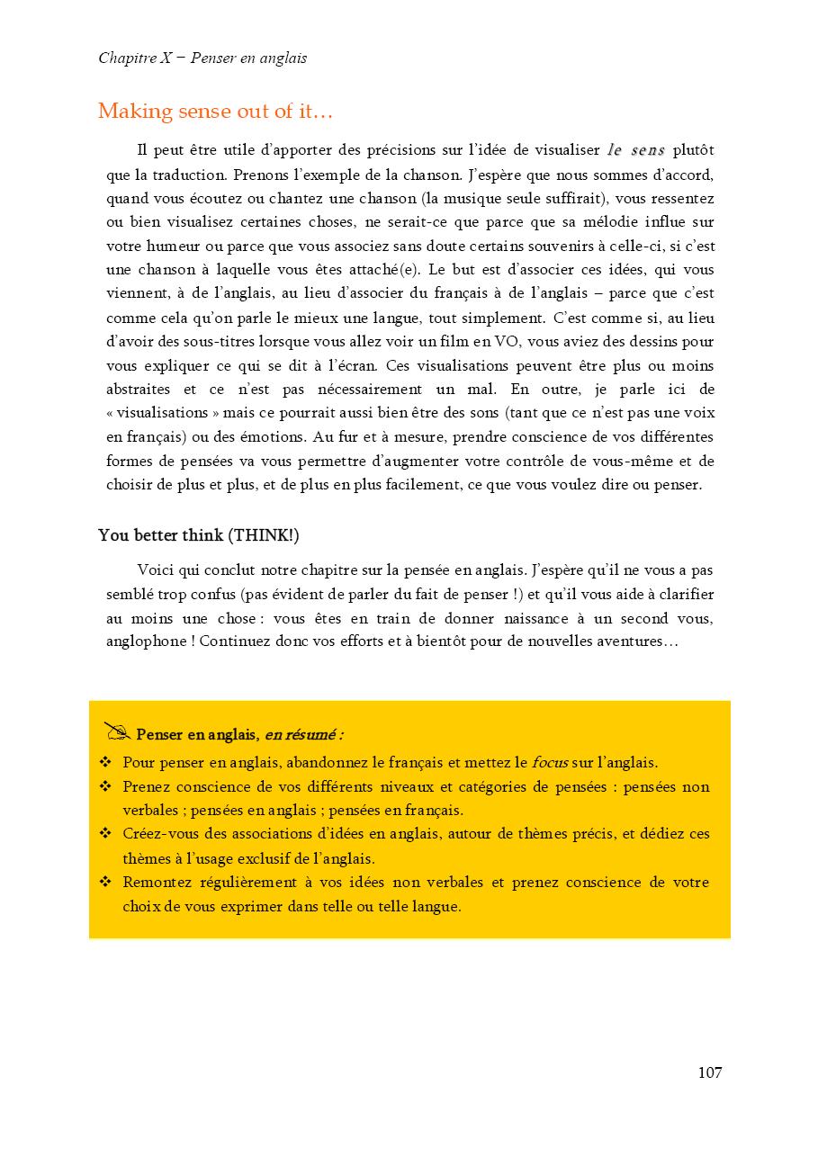 Extrait de Devenir bilingue en anglais : 4ème de couverture