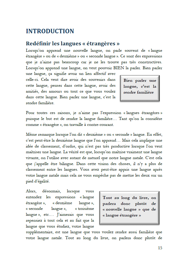 Extrait de Le don des langues : Introduction