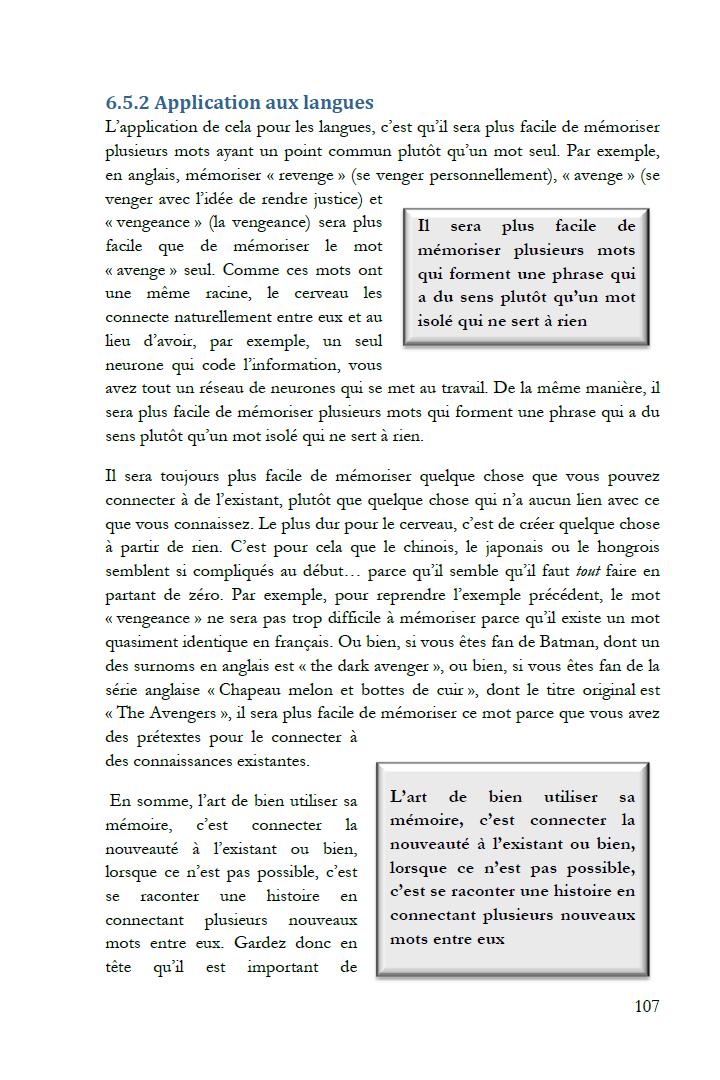 Extrait de Le don des langues : La mémoire