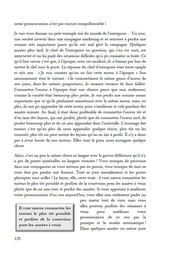 Extrait de Le don des langues : Se tromper